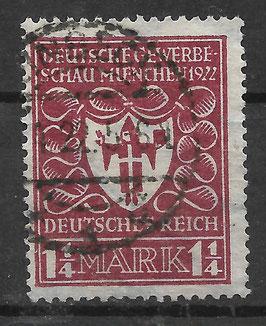 Deutsches Reich GEWERBESCHAU 199a gestempelt (INFLA)