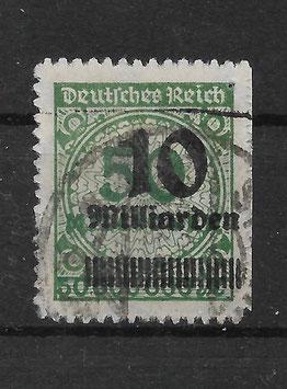 Deutsches Reich FREIMARKE 336 BP gestempelt (INFLA)