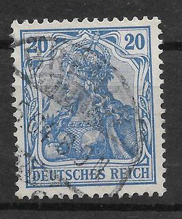 Deutsches Reich GERMANIA 72a gestempelt (BPP JÄSCHKE)
