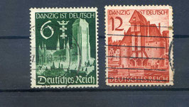 Deutsches Reich WIEDEREINGLIEDERUNG DANZIG 714-715 gestempelt