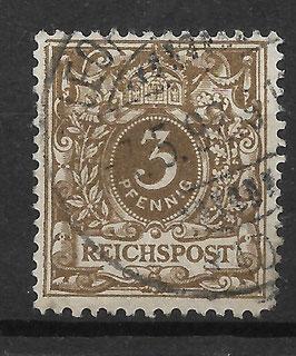 Deutsches Reich KRONE & ADLER 45a gestempelt (BPP WIEGAND) (6)