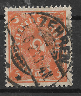 Deutsches Reich FREIMARKE POSTHORN 227a gestempelt (INFLA)