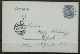 Deutsches Reich POSTKARTE P 63 gestempelt