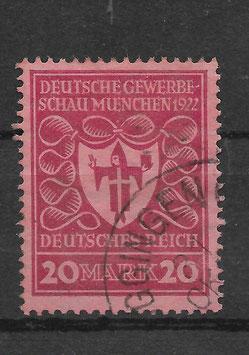 Deutsches Reich GEWERBESCHAU 204b gestempelt (INFLA)