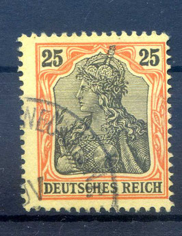 Deutsches Reich GERMANIA o. WZ 73 gestempelt (III)