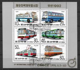 Nordkorea Kleinbogen 3270-3275 gestempelt