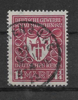 Deutsches Reich GEWERBESCHAU 199c gestempelt (INFLA) (2)