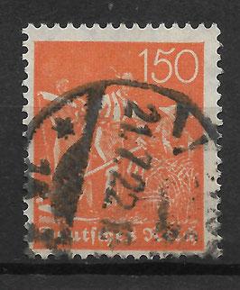 Deutsches Reich FREIMARKE 169 gestempelt (INFLA)