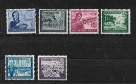 Deutsches Reich KAMERADSCHAFTSBLOCK der DEUTSCHEN REICHSPOST 888-893 postfrisch