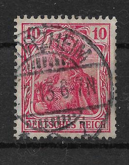 Deutsches Reich GERMANIA 86 Ib gestempelt (BPP JÄSCHKE) (IV)