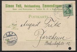 Deutsches Reich POSTKARTE 85 EF gestempelt (6)