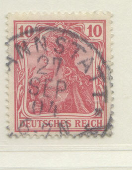 Deutsches Reich GERMANIA o. WZ 71 gestempelt (III)