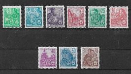 DDR 577-585 A postfrisch