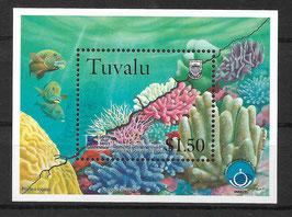 TUVALU Block 65 postfrisch