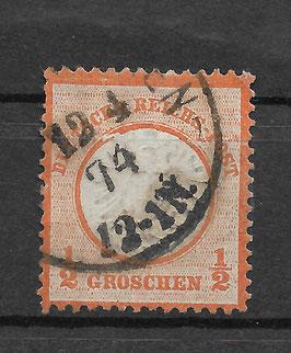 Deutsches Reich BRUSTSCHILD 18 Plattenfehler Ib gestempelt (BPP KRUG)