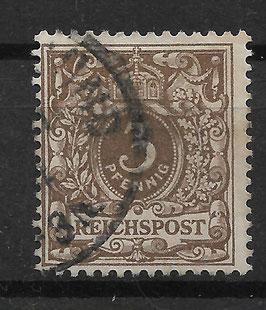 Deutsches Reich KRONE/ADLER 45b gestempelt (BPP JÄSCHKE)