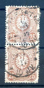 Deutsches Reich PFENNIGE 35aa gestempelt als PAAR (BPP JÄSCHKE) (2)
