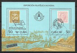 CUBA Block 96 gestempelt