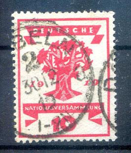 Deutsches Reich NATIONALVERSAMMLUNG 107 gestempelt (II)