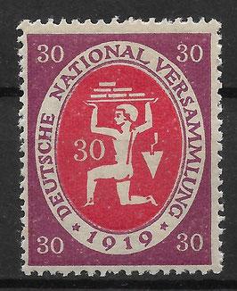 Deutsches Reich NATIONALVERSAMMLUNG 110c postfrisch (BPP BAUER)