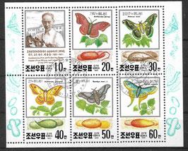 Nordkorea Kleinbogen 3191-3196 gestempelt