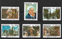 NICARAGUA 2605-2610 gestempelt