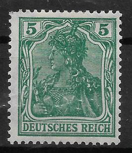 Deutsches Reich GERMANIA 85 IIa ungebraucht (BPP JÄSCHKE)