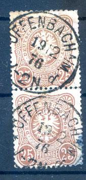 Deutsches Reich PFENNIGE 35aa gestempelt als PAAR (BPP JÄSCHKE) (5)