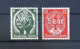 Deutsches Reich SAARABSTIMMUNG 544-545 gestempelt (3)