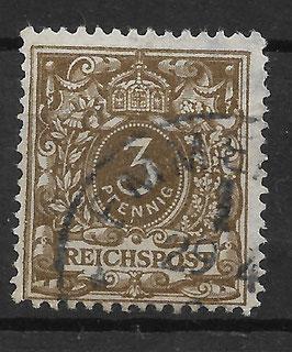 Deutsches Reich KRONE & ADLER 45a gestempelt (BPP WIEGAND) (14)