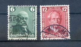 Deutsches Reich 50 JAHRE KRAFTWAGEN 604-605 gestempelt (2)