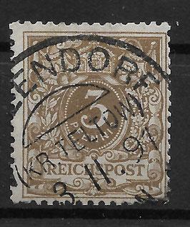 Deutsches Reich KRONE & ADLER 45a gestempelt (BPP WIEGAND) (8)