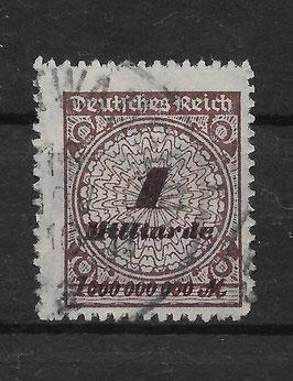 Deutsches Reich FREIMARKE 325 BP gestempelt (INFLA)