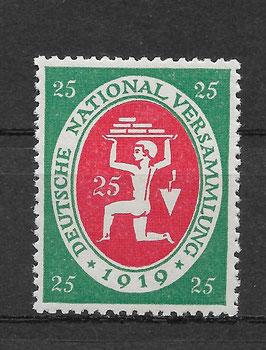Deutsches Reich NATIONALVERSAMMLUNG 109 postfrisch