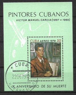 CUBA Block 60 gestempelt