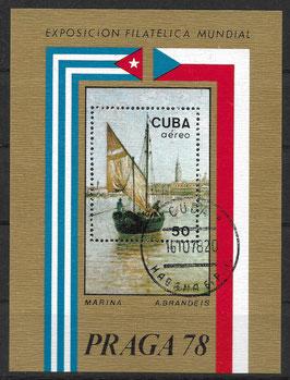 CUBA Block 55 gestempelt