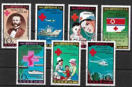 NORDKOREA 1976-1982 gestempelt