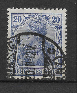 Deutsches Reich GERMANIA 87 IId gestempelt (BPP JÄSCHKE) (2)