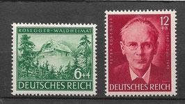 Deutsches Reich 100.GEBURTSTAG von PETER ROSEGGER 855-856 postfrisch (2)