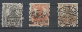 Deutsches Reich GERMANIA 98-100 gestempelt (6)