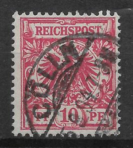 Deutsches Reich KRONE/ADLER 47c gestempelt (BPP JÄSCHKE) (V)