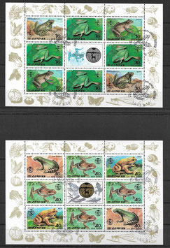 Nordkorea Kleinbogensatz 3340-3345 gestempelt