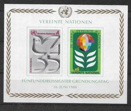 UNO Wien Block 1 postfrisch (2)