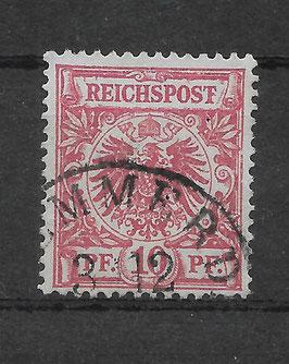Deutsches Reich KRONE & ADLER 47b mit Plattenfehler I gestempelt (BPP WIEGAND) (2)