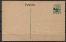 Deutsches Reich BESETZUNG 1. WK BELGIEN P 9 ungebraucht (2)
