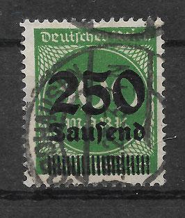 Deutsches Reich FREIMARKE 293 gestempelt (INFLA) (3)