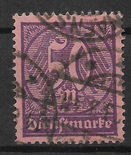 Deutsches Reich DIENST 73 gestempelt