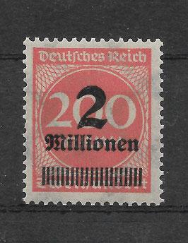 Deutsches Reich FREIMARKE 309 APb postfrisch (INFLA)
