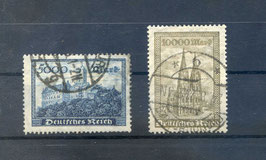 Deutsches Reich FREIMARKE 261-262 gestempelt (4)