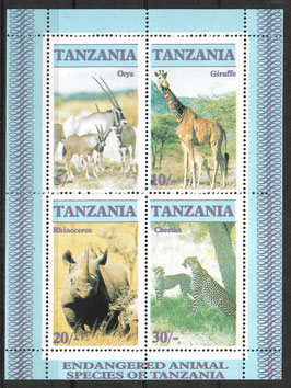TANSANIA Block 58 postfrisch